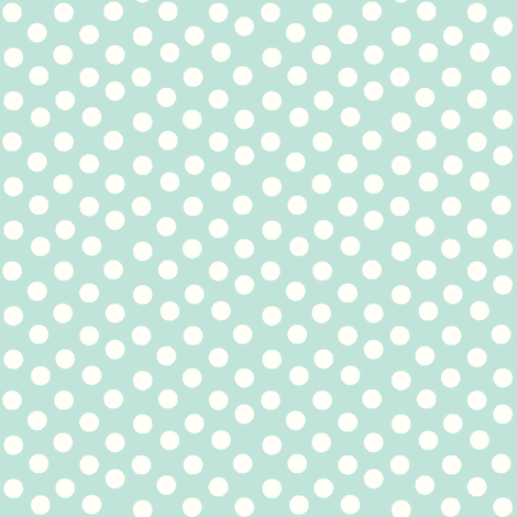 Pretty Polka Dots in Mint fabric by thepinkhome on Spoonflower - custom fabric