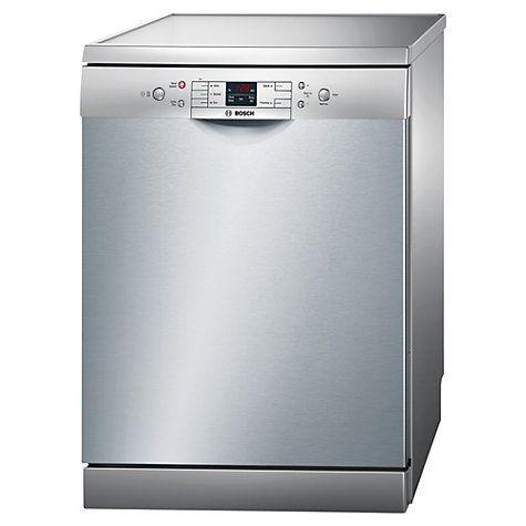Bosch Sms50m18gb Freestanding Dishwasher Silver Innox