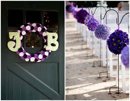 funky purple DIY wedding