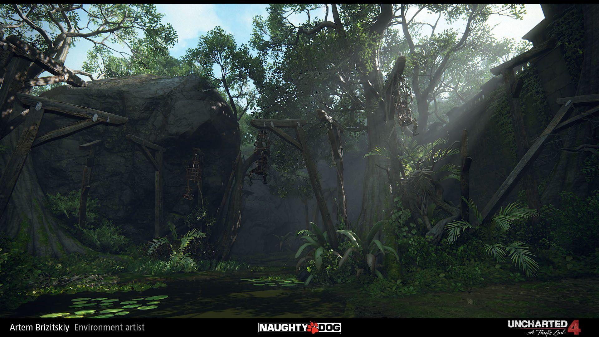 ArtStation - Uncharted 4 - sunken ruins, Artem Brizitskiy