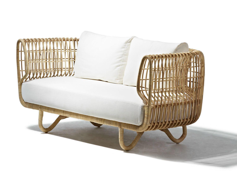 2 seater rattan sofa NEST | Sofa - Cane-line | Bend ...