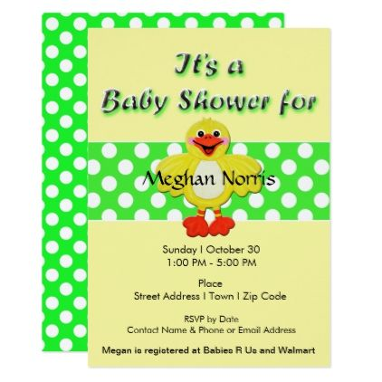 Green yellow rubber duck baby shower invitation shower gifts diy green yellow rubber duck baby shower invitation shower gifts diy customize creative filmwisefo