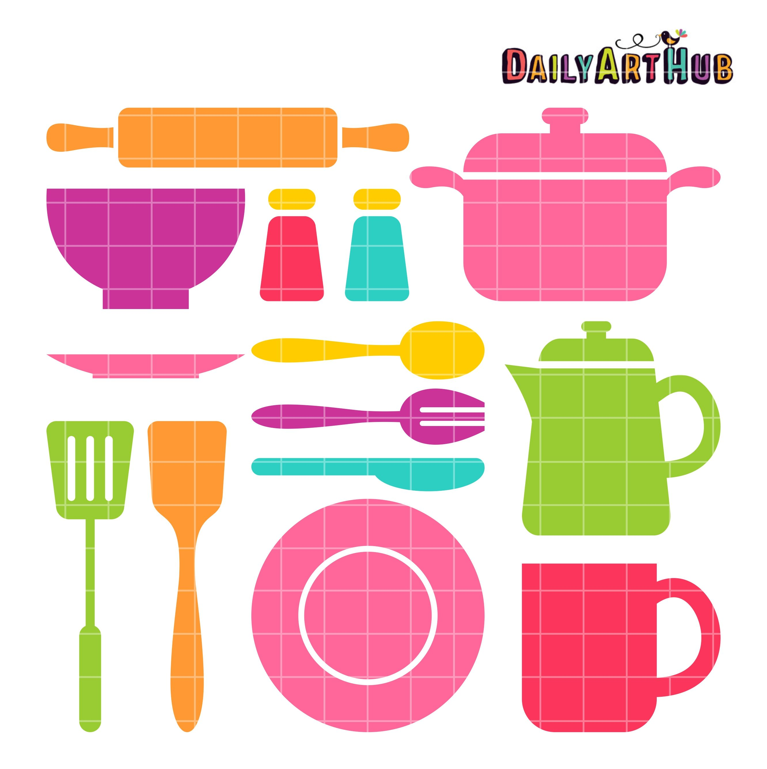 FREE Kitchen Stuff Clip Art Set