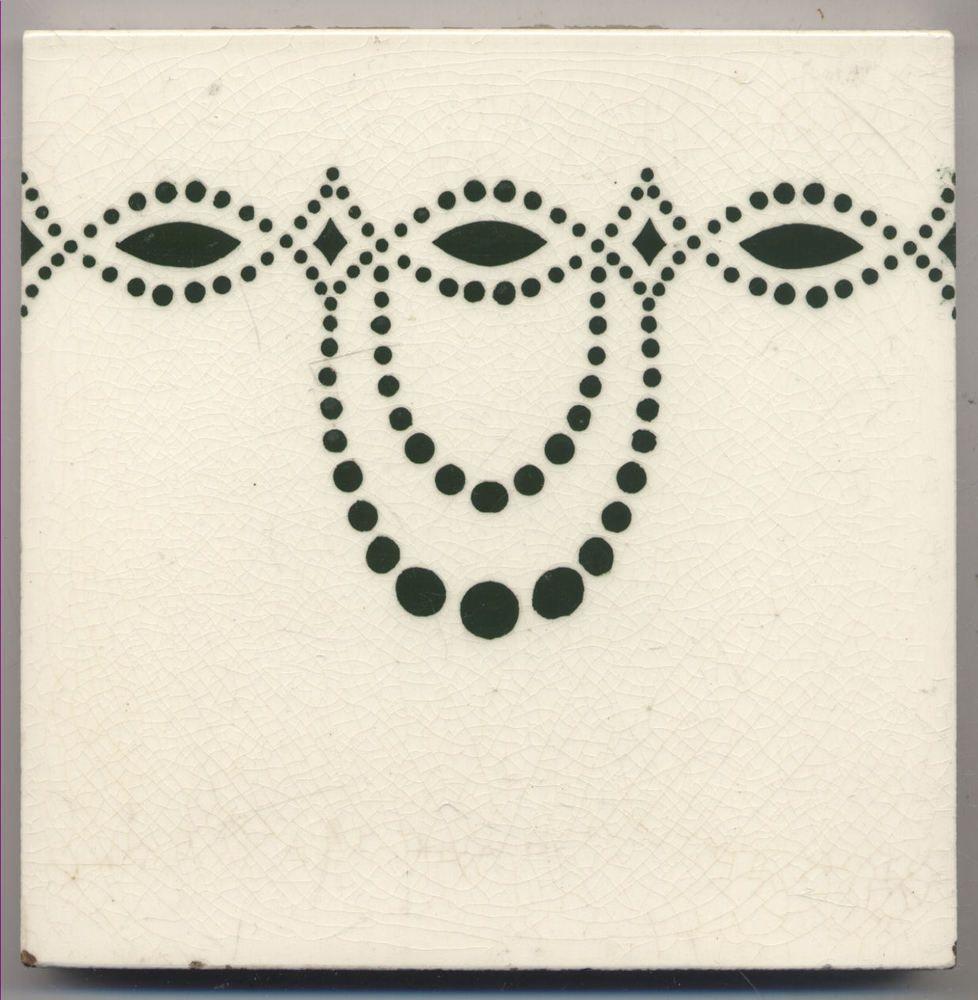 Super Rare Wessel Ornament Jugendstil Fliese Art Nouveau Tile - Wessel keramik fliesen