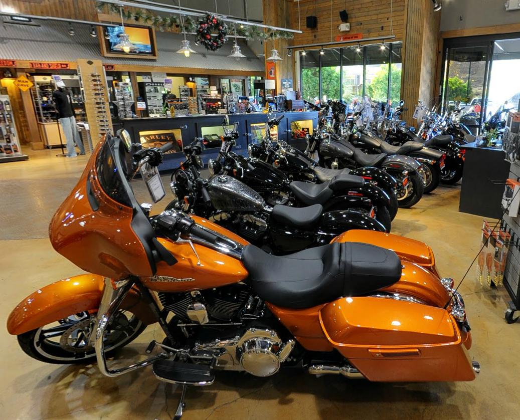 Hear is a cool Google Street View tour inside Quaid Harley Davidson