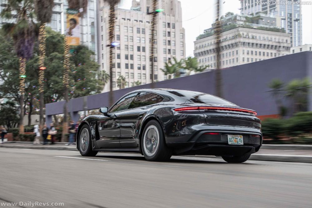 2020 Porsche Taycan 4S Volcano Grey Metallic Dailyrevs