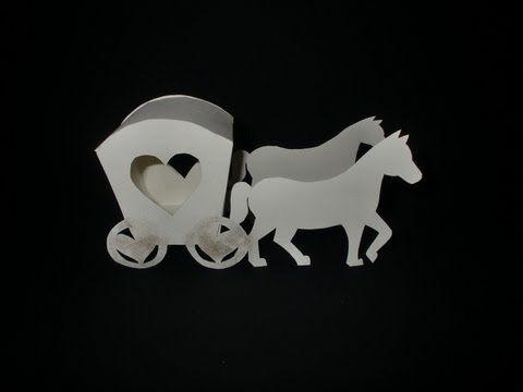 Kutsche basteln  sogar mit Pferden  Explosion box  Hochzeit kutsche Hochzeitskutsche und