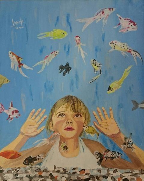 Poonam Wankhede - Acrylic on canvas. (Link to portfolio): https://www.facebook.com/Natasha-747106265420749/