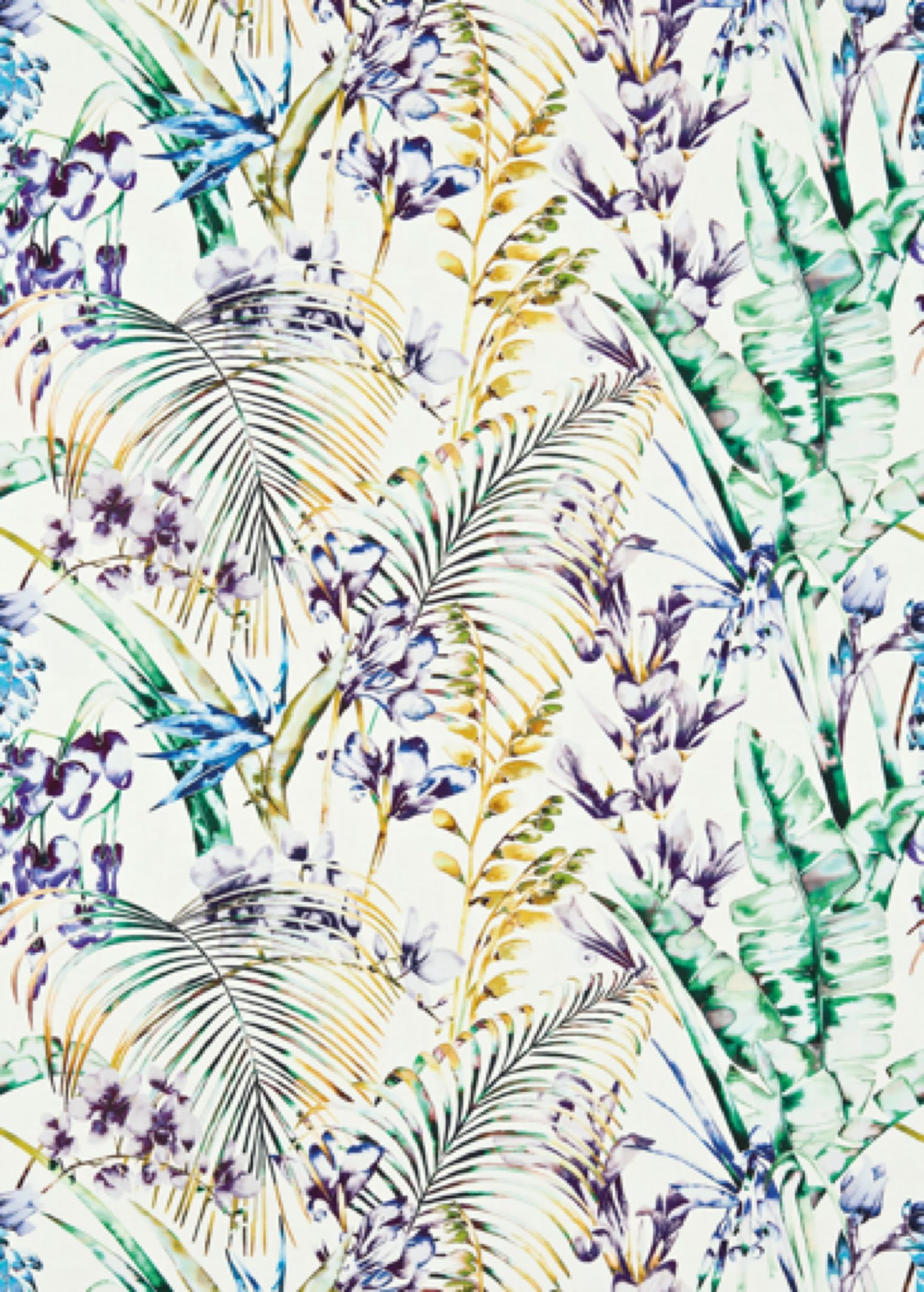 Products harlequin designer fabrics and wallpapers paradise - Paradise Harlequin Fabrics A Bright Jungle Floral Design With Orchids And Bird Of Paradise Flowers In A Loose Hand Painted Style