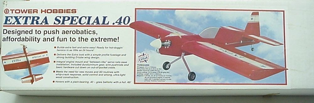 Tower Hobbies Extra Special  40 Model Airplane Kit NIB | Buying Toys