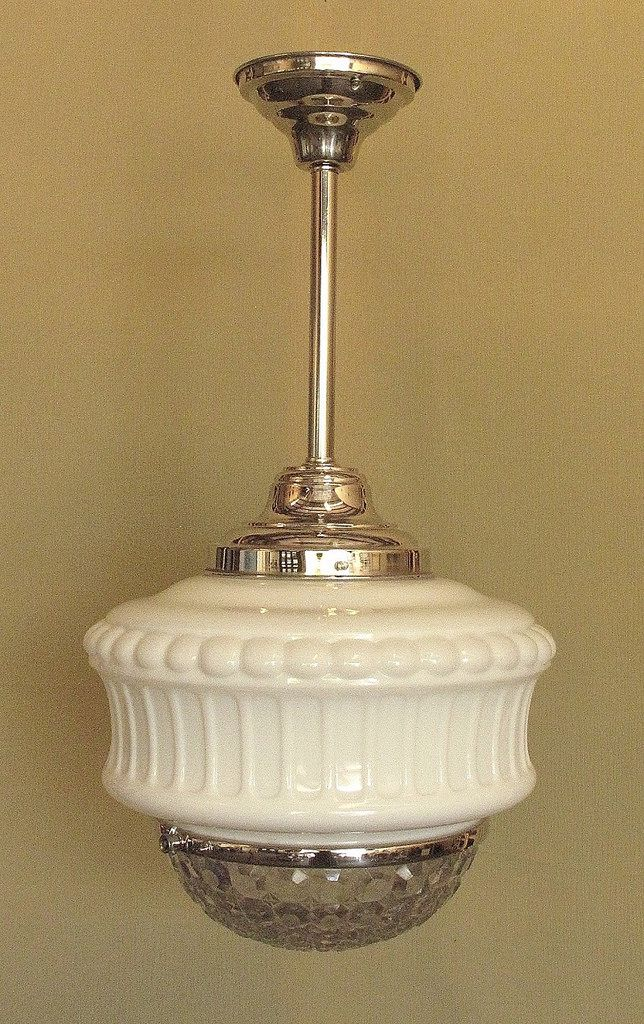 Vintage Schoolhouse Lighting Fixture Vintage Kitchen Light - Old kitchen light fixtures
