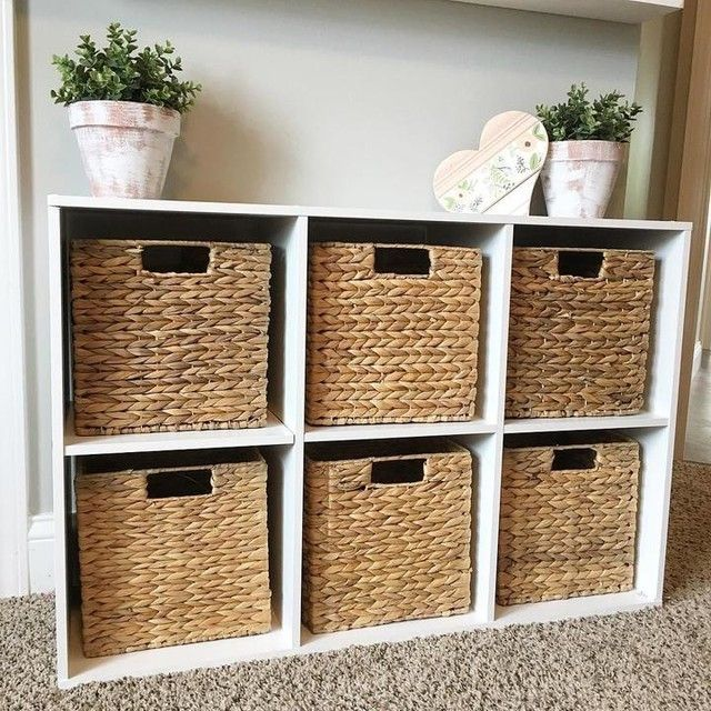 Water Hyacinth Storage Cubes with Handles