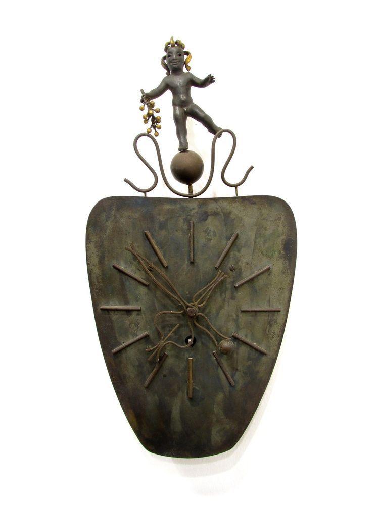 German Art Deco Bronze Clock * Bacchus * 1930's