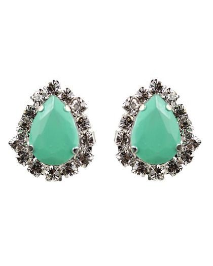 Mint Green & Silver Earrings