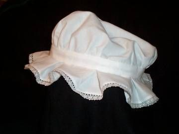 How to make a homemade mob cap colonial plays and girls for Colonial hat template
