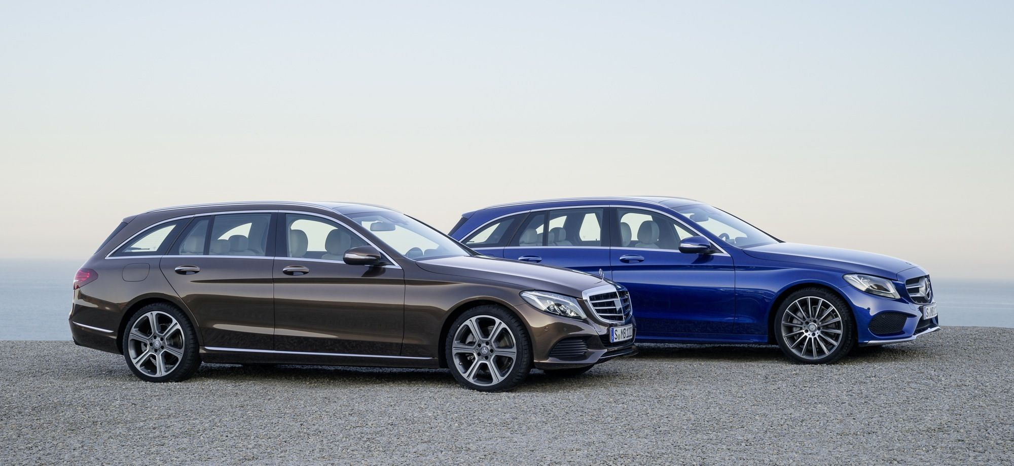 Mercedes benz c class estate c300 bluetec hybrid and c250 bluetec amg