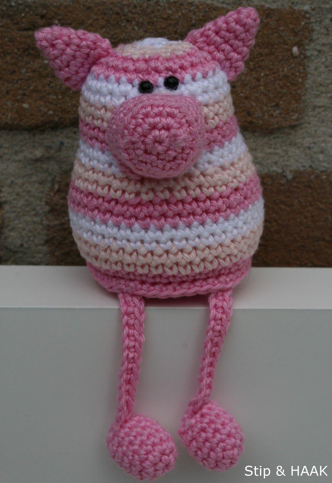 crochet pattern for little pig (in dutch) - Stip & HAAK: Varkentje ...