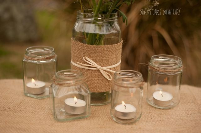 Rustic Wedding Flower Vases Rustic Glass Jars Use For Flower