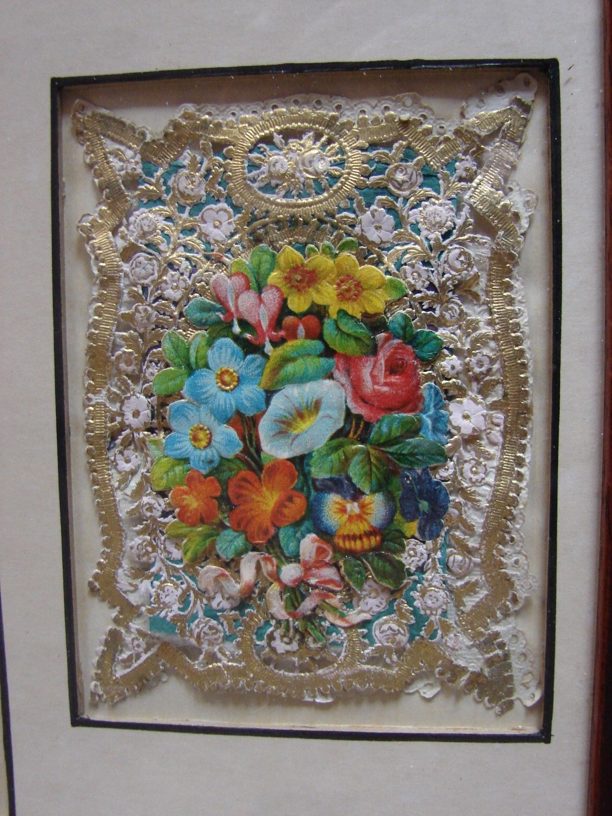 Antique valentines cards circa 1850 framed ebay