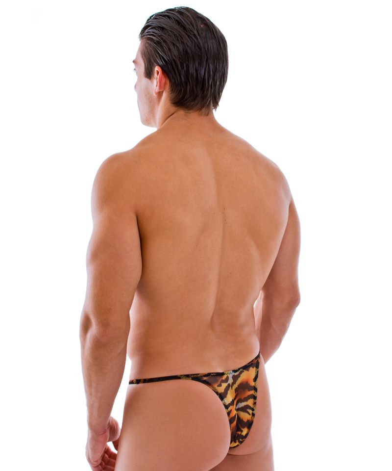 47a2b2387d94 Mens Sheer Tiger Bikini - Back View #speedo #mensbikini #mensswimwear  #mensstyle http