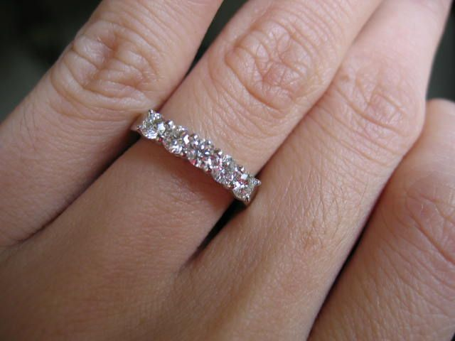 6f309649037f1 show me your half carat 5 stone bands!! | Rings | Engagement rings ...