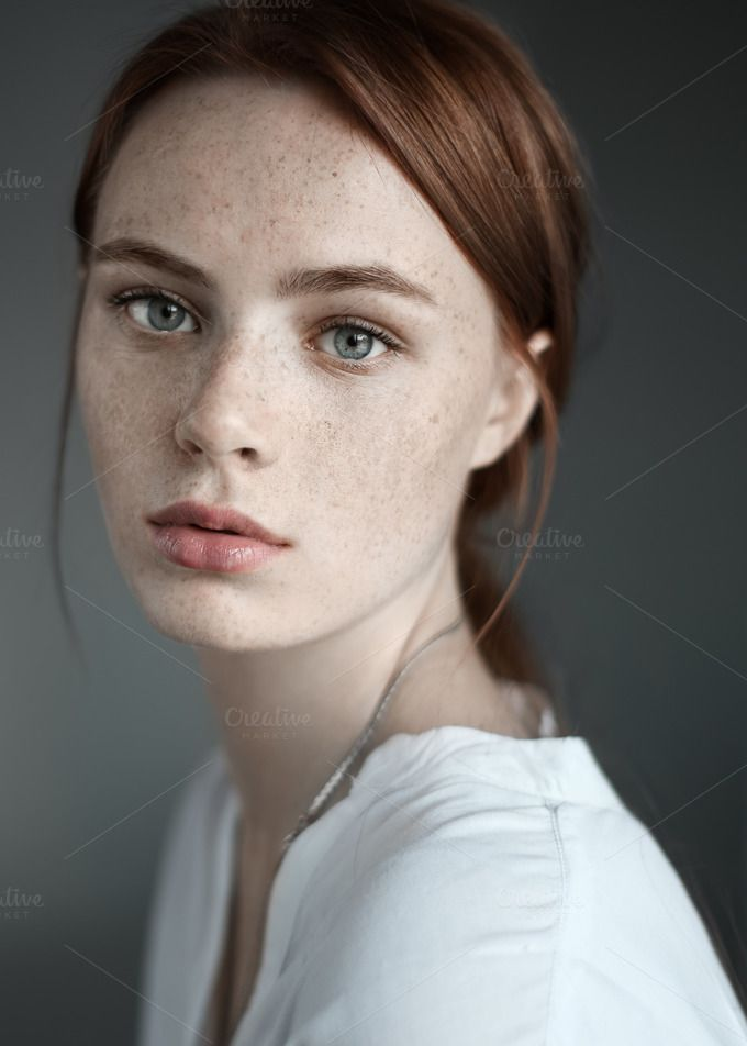 Beautiful Girl With Freckles  Freckles Girl, Portrait -9916