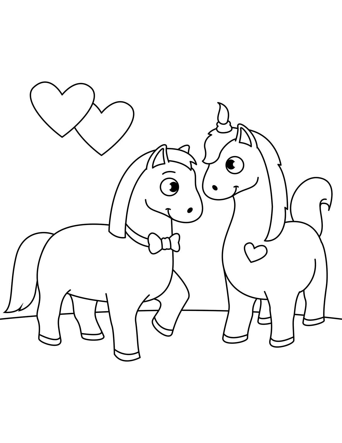 Two Horses In Love Coloring Page Horse Coloring Pages Love Coloring Pages Horse Coloring Books [ 1500 x 1159 Pixel ]