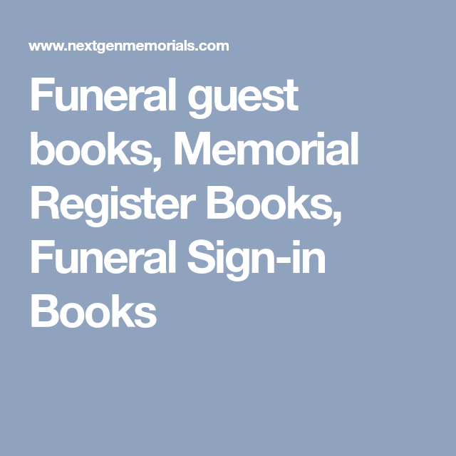 funeral guest books memorial register books funeral sign in books
