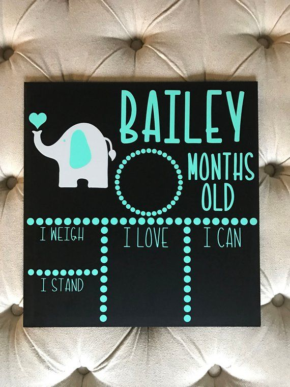 Milestone Board, Baby Monthly Chalkboard, Monthly Milestone, Baby