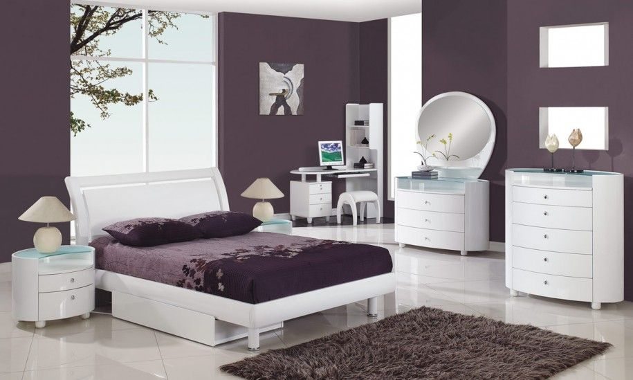Divine Ikea Small Bedroom Ideas: Easy On The Eye Ikea Purple White Bedroom  Furniture Set