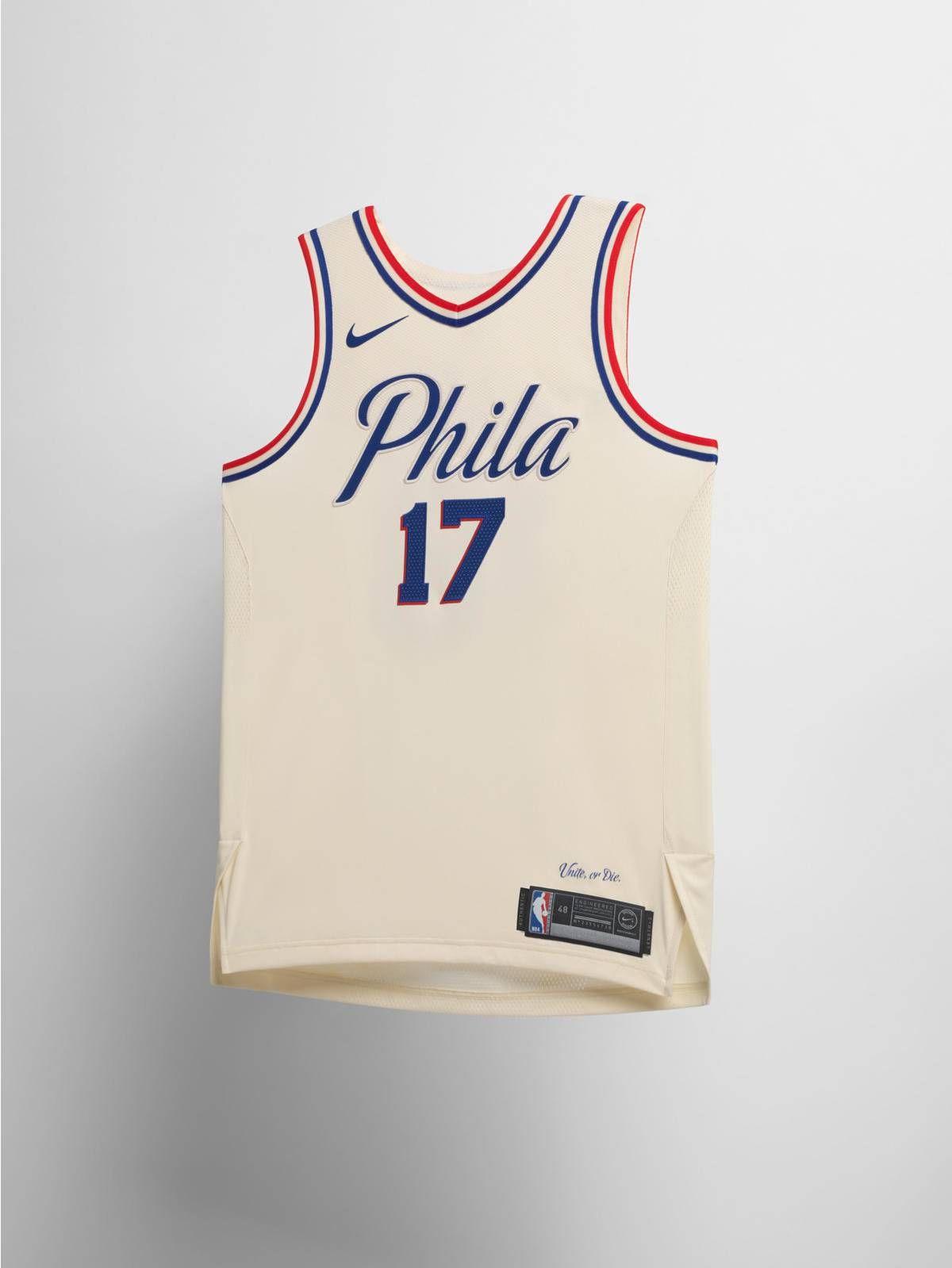 c0761e20551 Nike Philadelphia Sixers NBA City Edition jersey