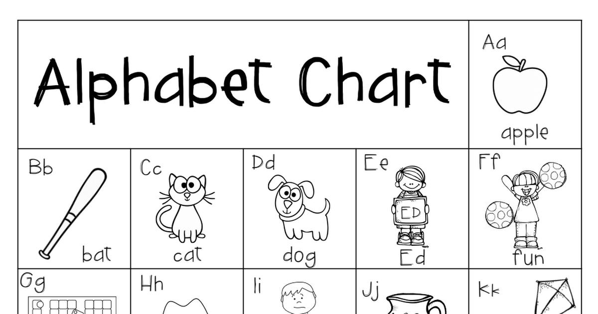 AlphabetChartFREEBIE2.pdf Alphabet charts, Phonics