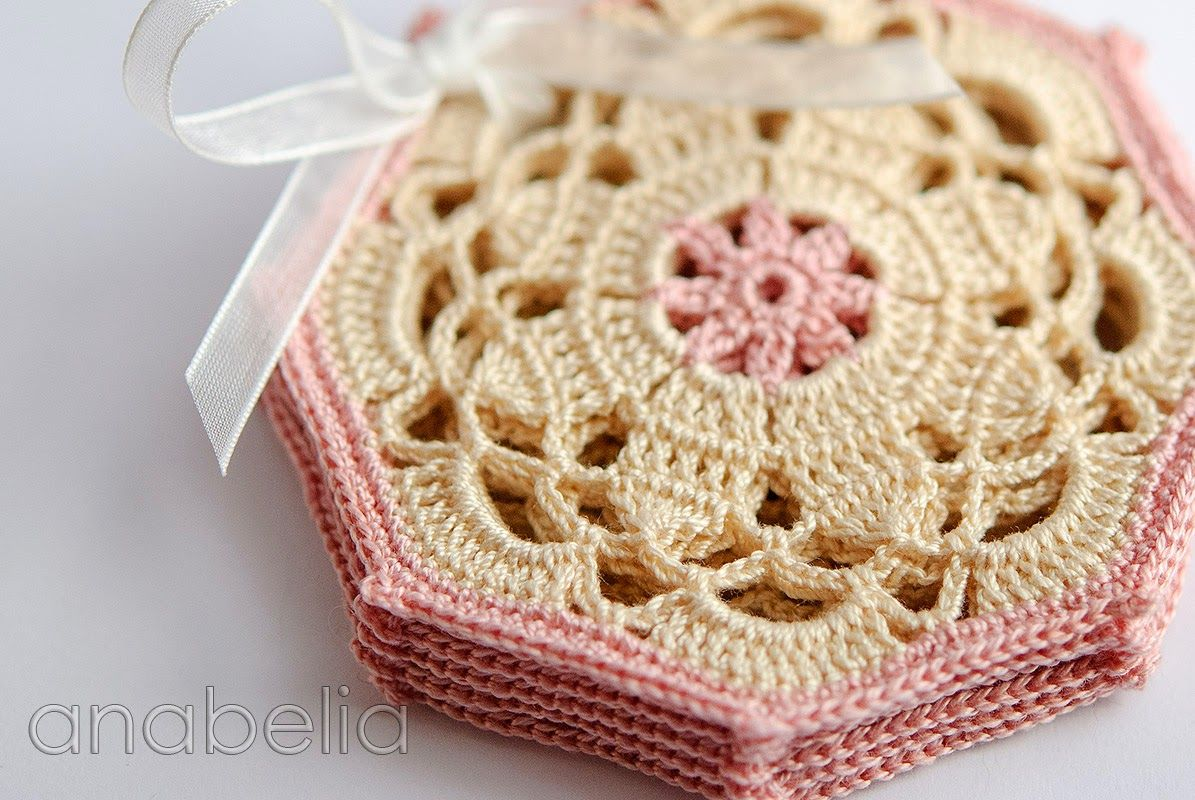 Crochet coasters sets by Anabelia | Crochet with Thread | Pinterest ...