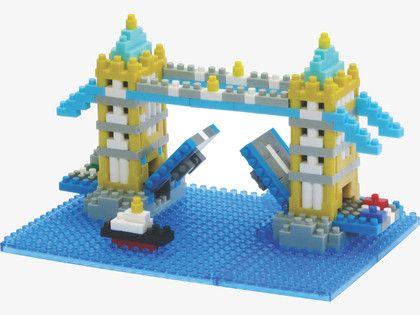 NANO BLOCKS Plastic Tower Bridge building blocks set - HabitatUK