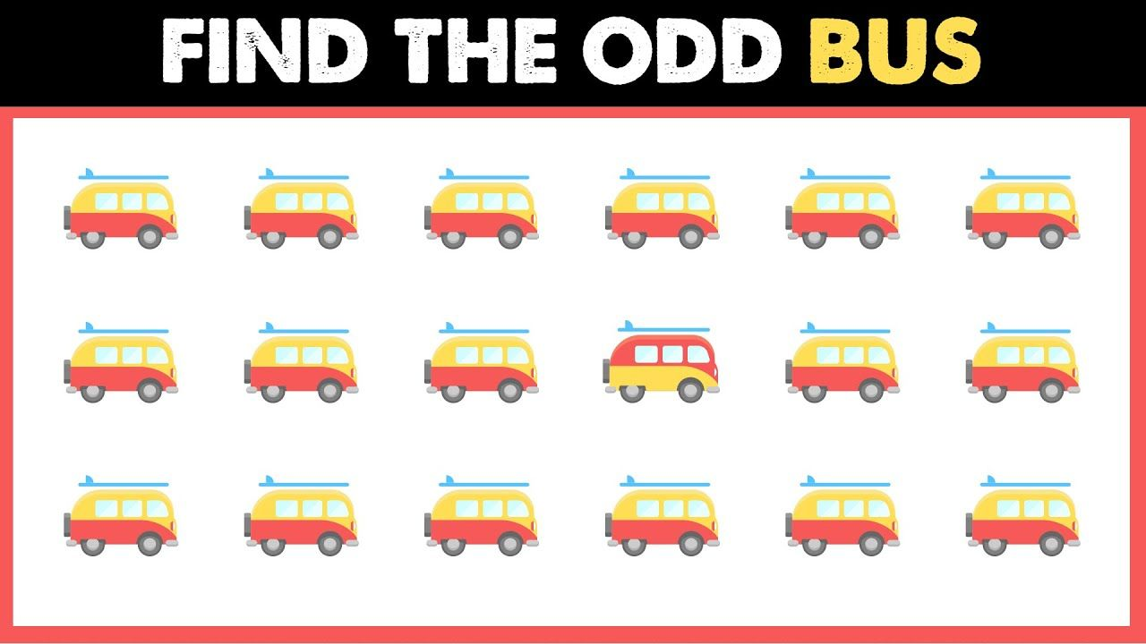 Bus Odd One Out Spot The Different Transport Emoji Find The Difference Find The Differences Games The Odd Ones Out Odds [ 720 x 1280 Pixel ]
