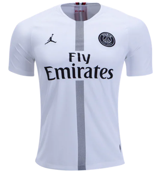 buy popular 70fe1 78b74 18-19 PSG JORDAN 3rd Away White Soccer Jersey Shirt(Player ...