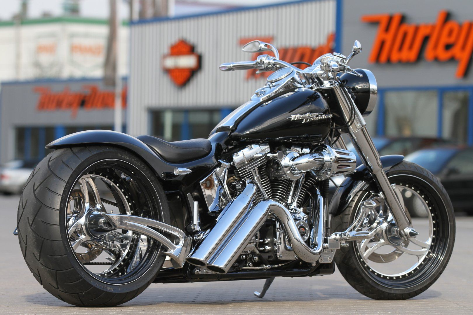 thunderbike harley davidson softail fat boy 120r with. Black Bedroom Furniture Sets. Home Design Ideas