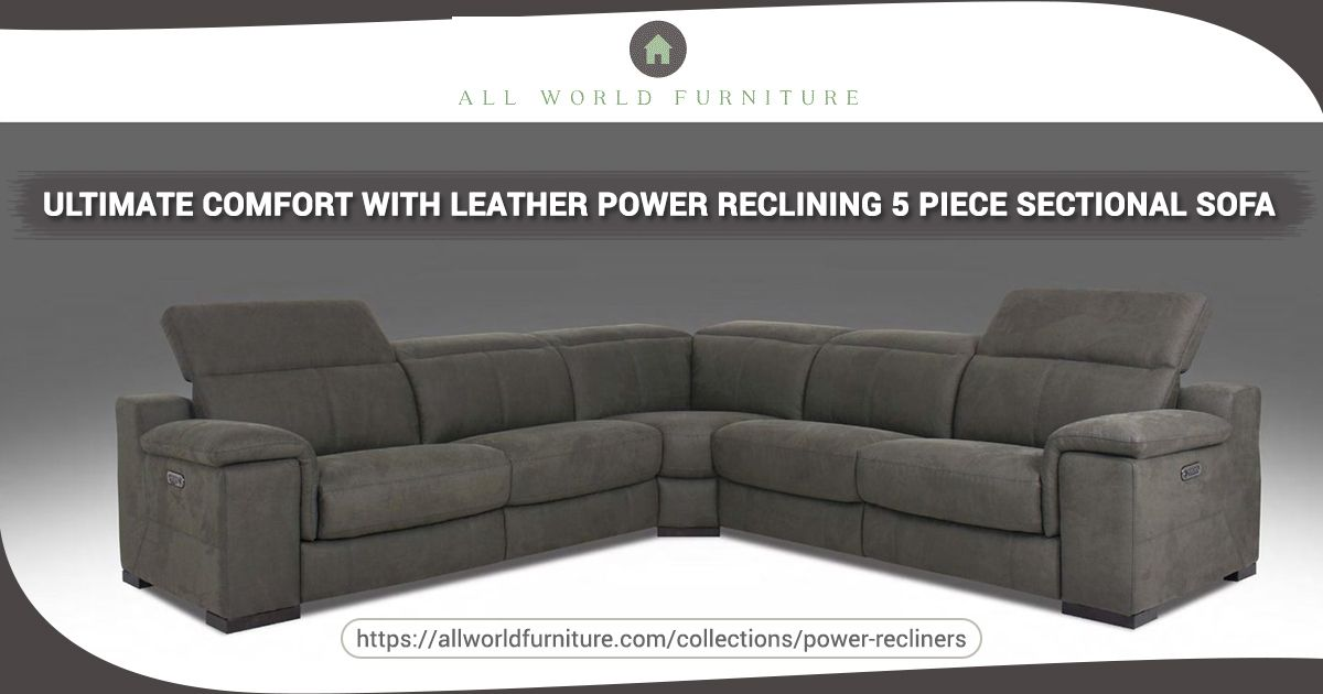Enjoy A Spacious Sectional 5 Piece Fabric Power Recliners Sectional Sofa To Get Reclining Sectional Sectional Sofa With Recliner Power Reclining Sectional Sofa