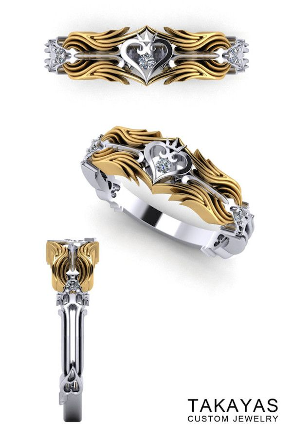 The Kingdom Hearts Wedding Ring Collection Nice Nerdy Jewelry