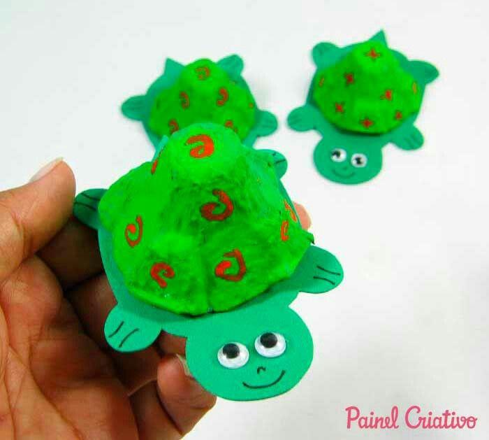 Tortuga Tortugas Pinterest Caixas De Ovos Arte Com Caixas De