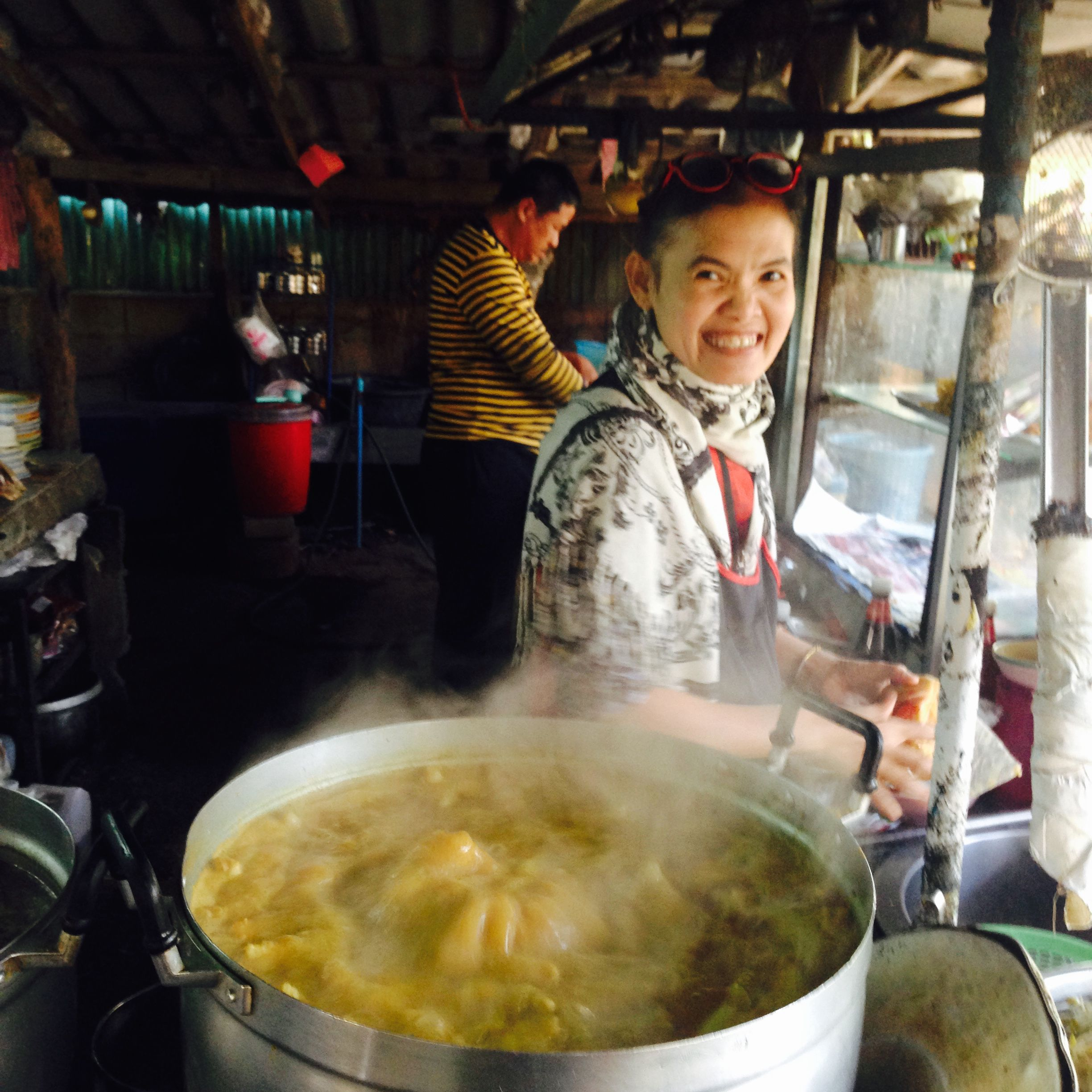 Favourite Kao Soi lady in Chiang Mai, Thailand