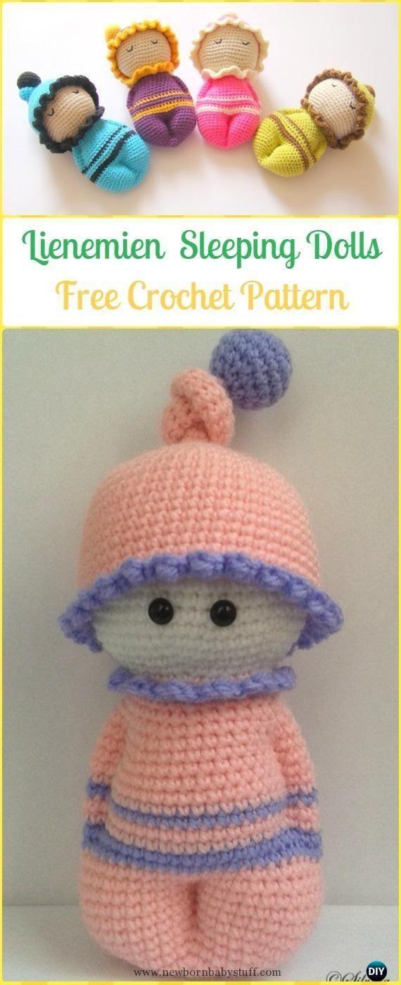 Baby Knitting Patterns Crochet Lienemien Sleeping Dolls Free Pattern ...