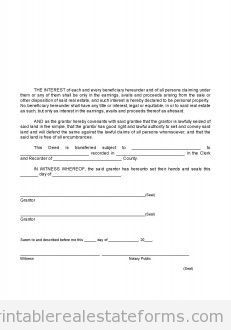 Free Closing  Warranty Deed To Trustee Printable Real Estate