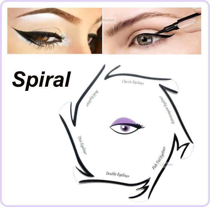 Visit to buy 1pc spiral style eyeliner stencil kit 6 model for visit to buy 1pc spiral style eyeliner stencil kit 6 model for eyebrows guide maxwellsz