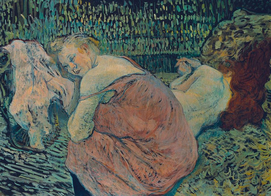 Two Friends1895. Oil on canvas, 59.5 x 81.5 cm. Galerie Neue Meister, Dresden  by Henri de Toulouse-Lautrec