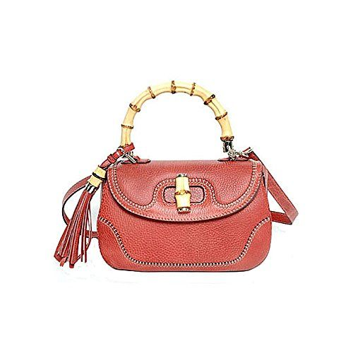 Gucci-Bamboo-Large-Top-Handle-Bag-Coral-Red-Leather-Handbag-Shoulderbag-254884