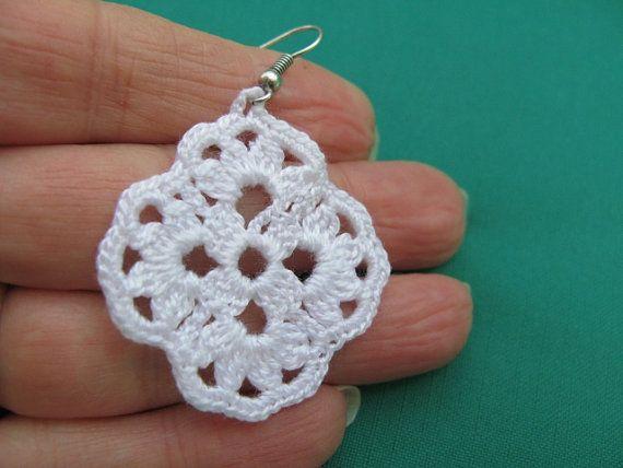 PDF Tutorial Crochet Pattern Crochet Earrings Pattern | crochê ...