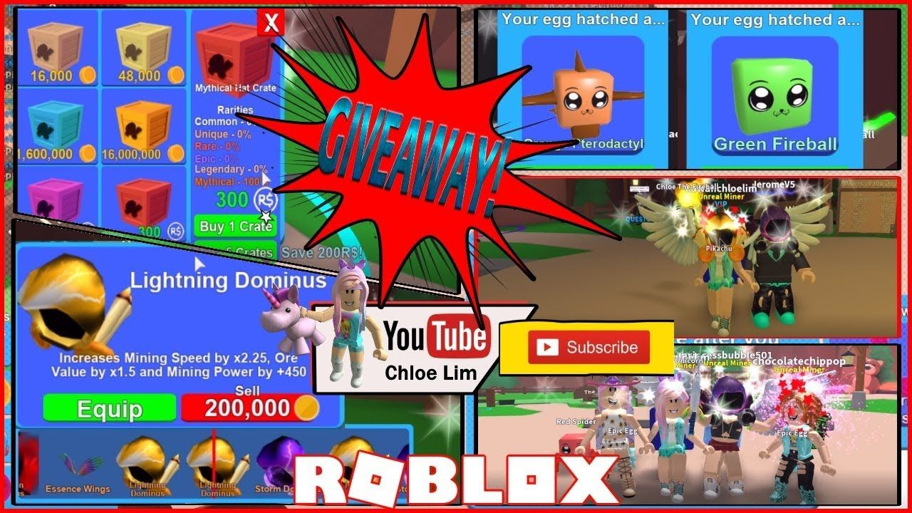 Roblox Mining Simulator Trading Back 3 New Mythical Hat Crates