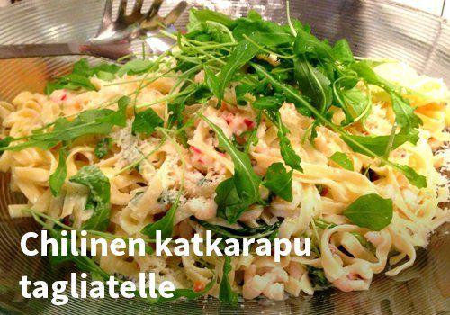 Chilinen katkarapu tagliatelle, #kauppahalli24 #resepti #tagliatelle #ruoka #katkarapu