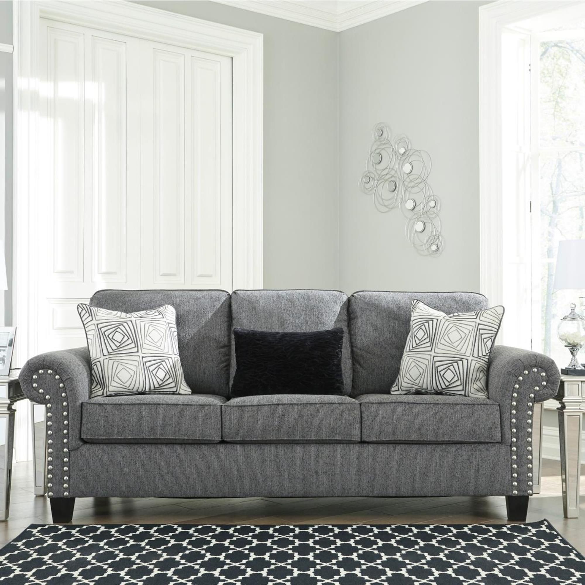 Signature Design By Ashley Agleno Sofa In Praylor Nebraska Furniture Mart In 2020 Charcoal Sofa Charcoal Loveseat Love Seat #nfm #living #room #sets